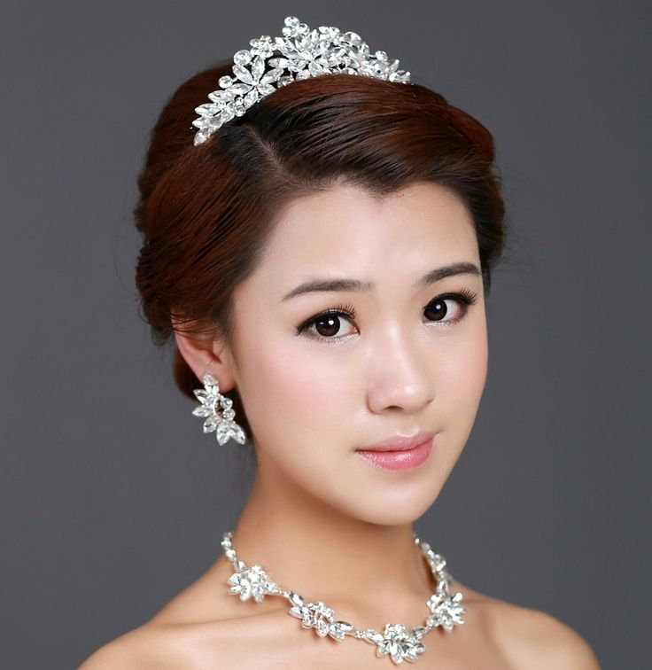Wedding Hairstyle Crown: 65 Best Images About Tiara Hairstyles On Pinterest