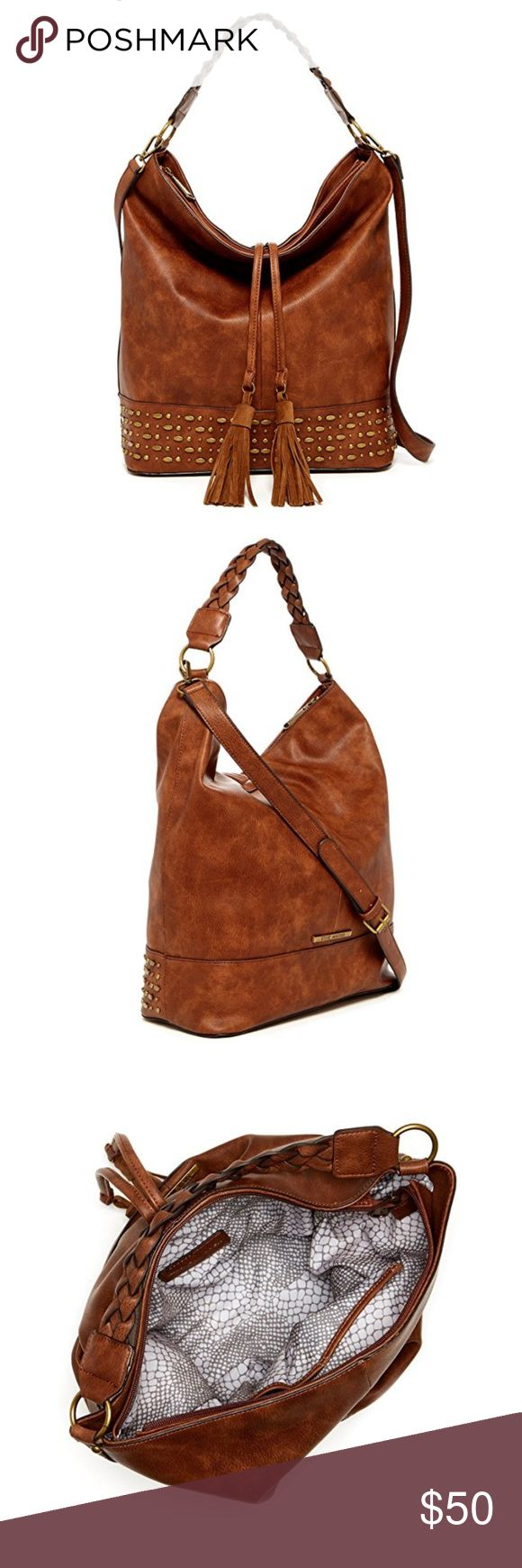 Steve Madden Hobo Handbag Cognac color, Like New...... only carried twice! VERY SPACIOUS, and easy to carry! This color is sold out everywhere! PRICE ABSOLUTELY FIRM Steve Madden Bags Hobos