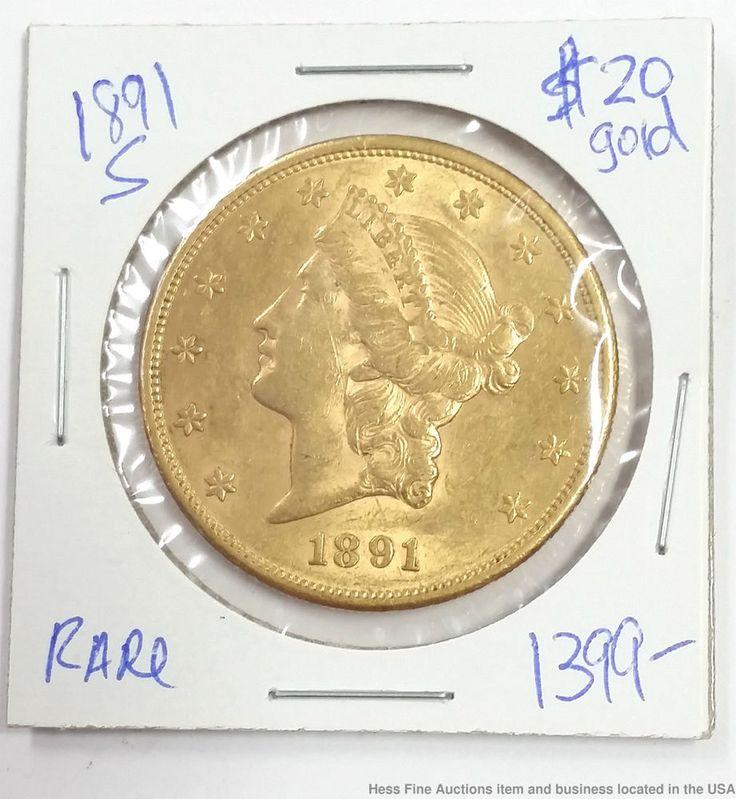 1891 S Liberty Head $20 Twenty Dollar Gold Coin San Francisco Double Eagle
