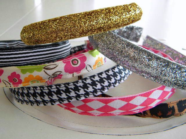 My Blonde Ambitions: Inexpensive Ribbon Headbands Part I