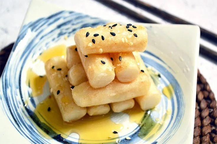 Korean rice cakes with honey jaja bakes