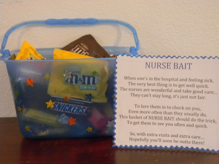 118 best n nurses weekmedical gift ideas images on pinterest gift for someone in hospital nurse bait this is a great idea for a negle Images