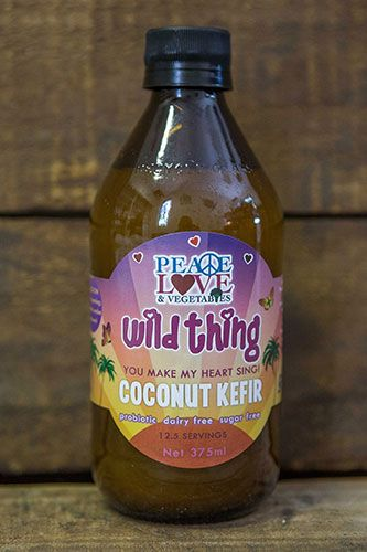 Traditionally kefir is made with dairy milk as the lactose feeds the good bacteria, however using coconut water also means that the naturally occurring sugars in the coconut feeds the grains without the negative effects of dairy.