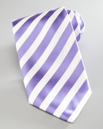 Nautical-Stripe Silk Tie, Lavender by Brioni at Neiman Marcus.