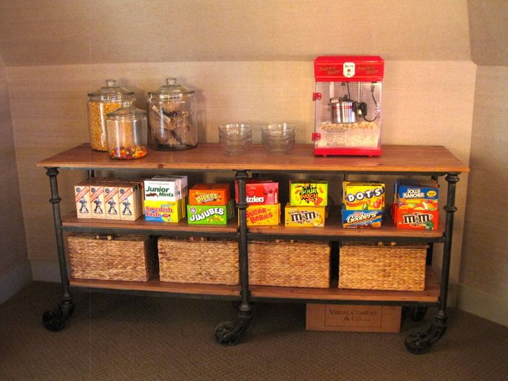 theater room concession stand - Google Search
