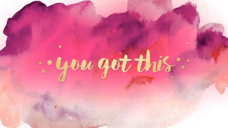 "Remind yourself daily that ""you got this"" with the vibrant watercolor with gold text background for your phone, tablet or desktop."