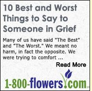 The Five Stages of Grief - Elisabeth Kübler-Ross & David Kessler: | Grief.com:  Lots of different counseling resources from a non-bible based stand point - considered the best that there is out there professionally speaking  :-)  [the 1-800-flowers.com has nothing to do with it]