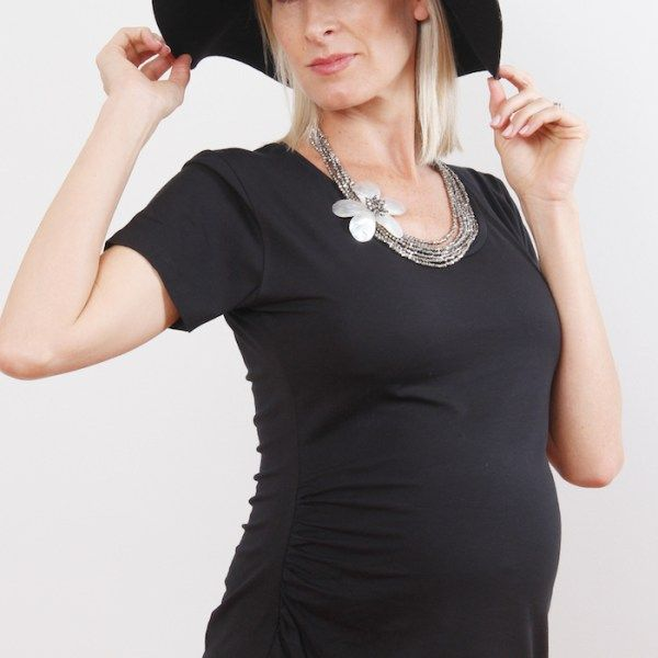 Penelope & Bella Black Maternity Tee. Available online in SA