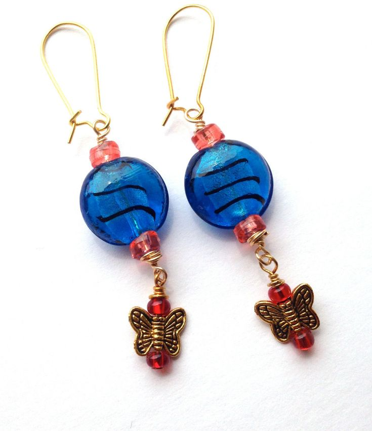 Deep Blue Butterfly Earrings, Colorful Summer Earrings, Festival Earrings, Blue Monarch Earrings https://www.etsy.com/listing/276833856/deep-blue-butterfly-earrings-colorful?utm_campaign=crowdfire&utm_content=crowdfire&utm_medium=social&utm_source=pinterest
