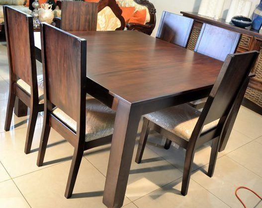 Comedor cuadrado 6 sillas monegro s r hogar pinterest for Comedores de madera