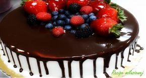 Tort śmietanowo-czekoladowy z owocami w syropie miodowo cytrynowym! | Recipe…