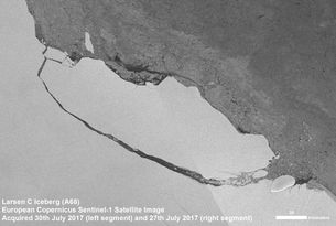 Thanks to the satellite era, we recently witnessed the birth of one of the biggest icebergs on record. While the breakup of Antarctica's Larsen C ice shelf hit the headlines around the world, this dramatic event also presents scientists with a unique opportunity to learn more about ice-s…