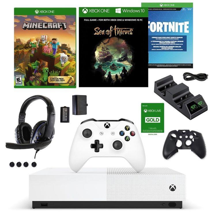 Xbox One S Digital Fortnite Bundle With Accessories Kit In 2020 Xbox One Price Xbox One S Xbox One S 1tb