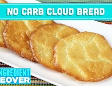 No Carb Cloud Bread | No-Carb Cloud Bread from 3 Ingredients