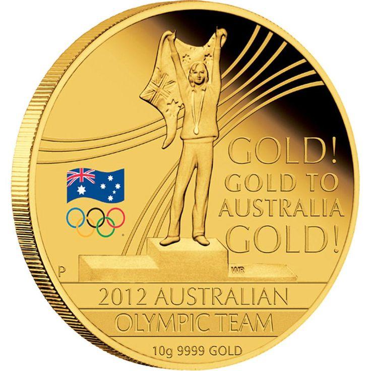 Australia Gold: 2012 Australian Olympic Team 10g Gold Proof Coin - Perth Mint Australia Gold