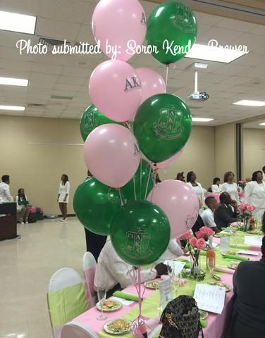 "12"" Alpha Kappa Alpha Sorority Latex Balloons - Designs by Dee's Hands  - 5"