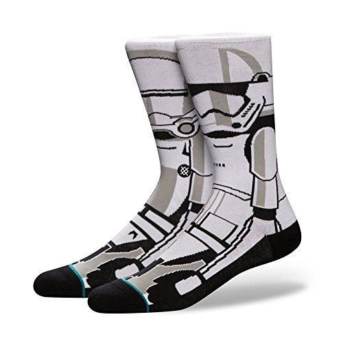 425db10592 Stance Mens Trooper 2 Star Wars Classic Crew Sock White Large    niftywarehouse.com