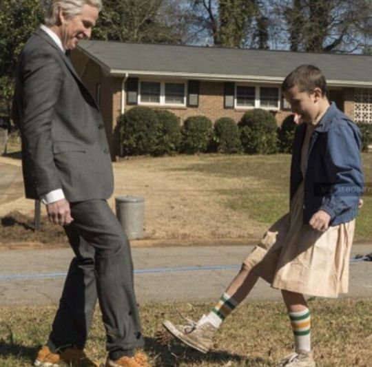 Matthew Modine and Millie Bobby Brown