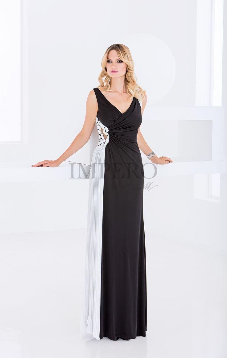 K 9749 #abiti #dress #wedding #matrimonio #cerimonia #party #event #damigelle #bianco #nero #black #white #biancoenero #blackandwhite