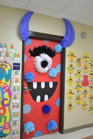 1000 ideas about monster door on pinterest monster door - Decoration halloween a faire ...