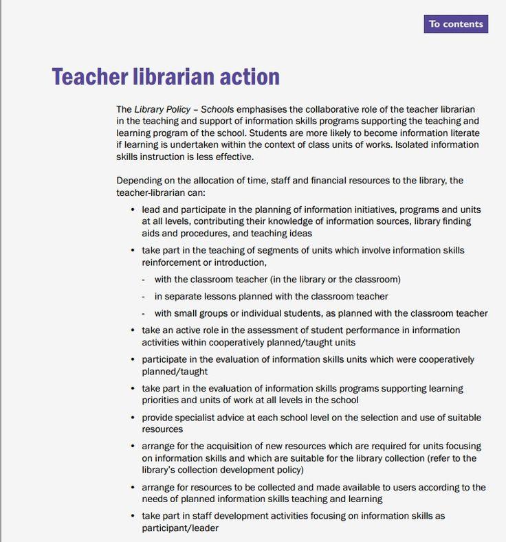 38 best Teacher Librarians images on Pinterest Teacher librarian - librarian resume