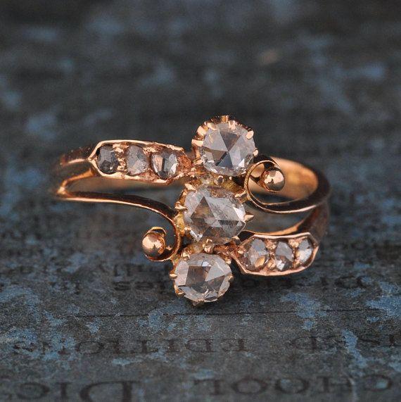 Harry Kotlar Heart Shape Diamonds Dynasty Ring - UK M - US 6 - EU 52 3/4 Buu2GW