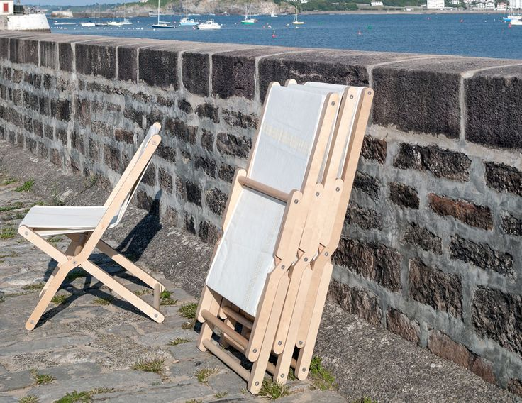 Folding Chair. Inspired By Traditional Folding Outdoor And Beach Furniture.  The Plastic Language Is