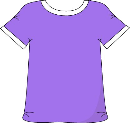 Purple Tshirt with a White Collar with a White Collar