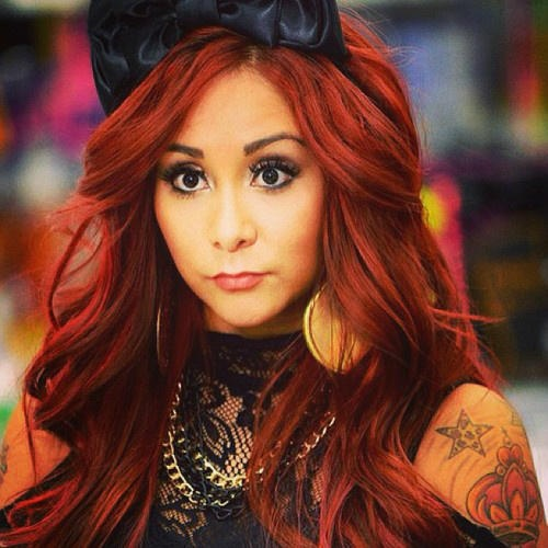 NiC0LE P0LiZZi (snooki) red hair