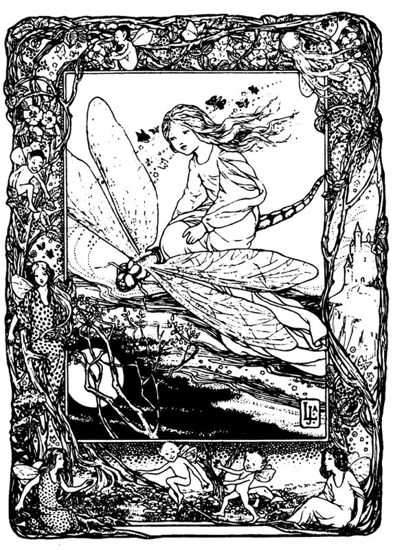 fairy coloring page - Coloring Pages Dragons Fairies