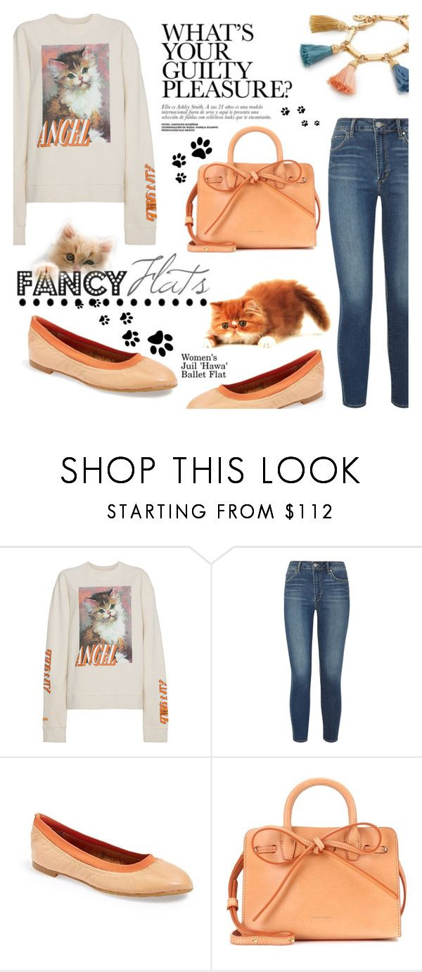 """""""Magic Slippers: Fancy Flats"""" by dixiebelle81 ❤ liked on Polyvore featuring Heron Preston, Articles of Society, Juil, Mansur Gavriel and Ben-Amun"""