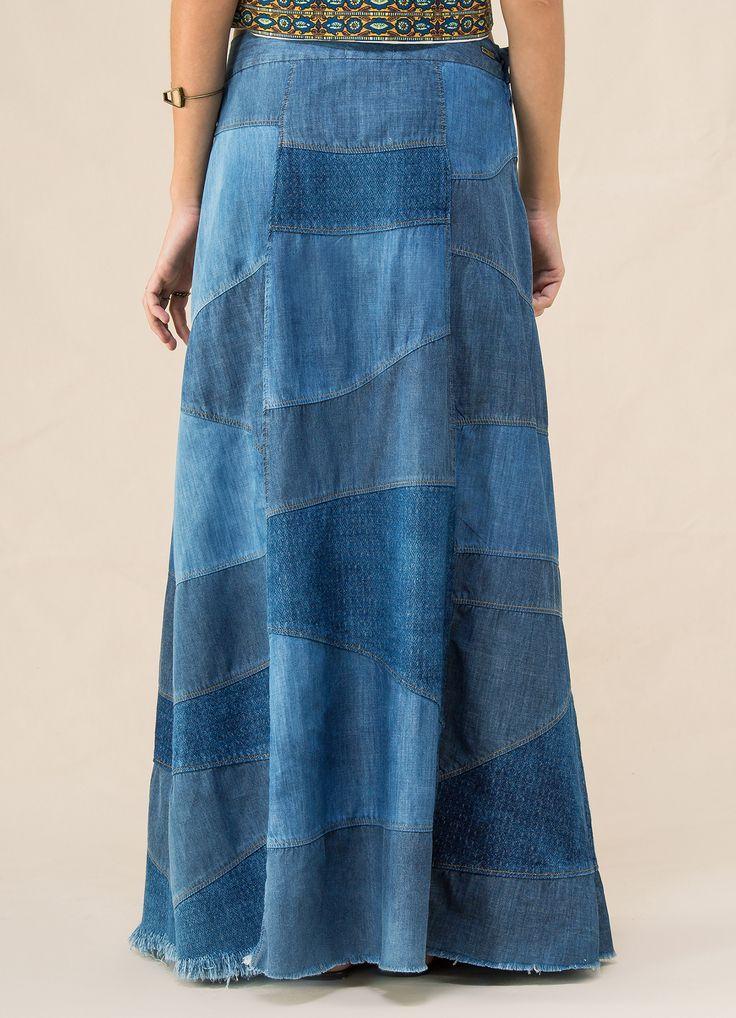 como fazer saia longa de calça jeans - Pesquisa Google