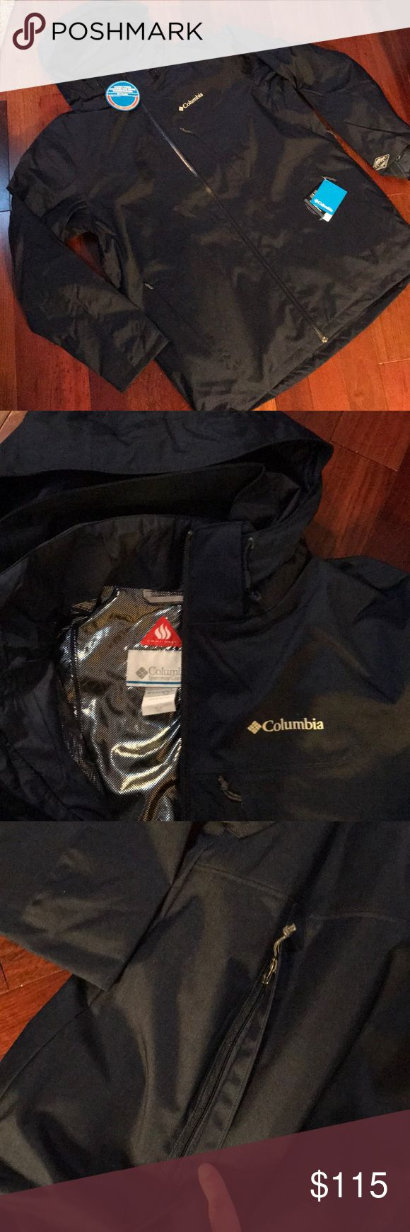 Columbia Whirlibird Interchange Jacket NWT! Navy men's Columbia Interchange Omni Heat jacket. See picture 8 for features. Also has adjustable removable hood, adjustable snap back powder skirt, and goggle pocket. Removable jacket. Open to offers! Columbia Jackets & Coats