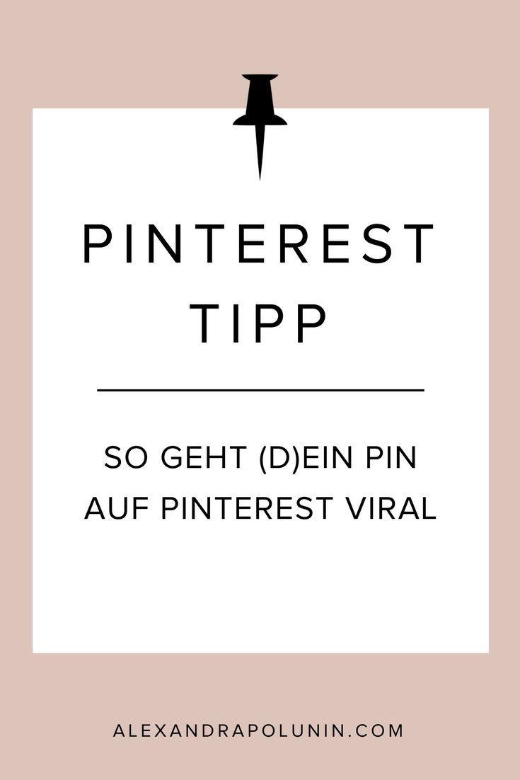 Pinterest-Tipp: So geht (d)ein Pin auf Pinterest viral! Lese jetzt, welche Strategien auf Pinterest zum Erfolg führen.