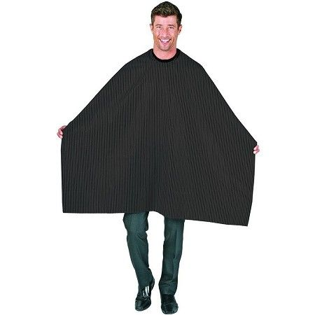 Betty Dain Seersucker Barber Cloth Cape Solid Black #206 $10.75  Visit www.BarberSalon.com One stop shopping for Professional Barber Supply, Salon Supply, Hair & Wigs, Professional Product. GUARANTEE LOW PRICES!!! #barbersupply #barbersupplies #salonsupply #salonsupplies #beautysupply #beautysupplies #deal #promotion #stylingcape #shampoocape #apron #stylejacket #barberjacket #bettydain #shinedesign