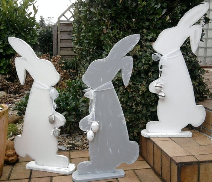 osterhase holz shabby xxl 80 cm gro shabby cute easter bunny and bunnies. Black Bedroom Furniture Sets. Home Design Ideas