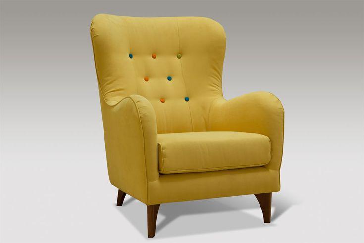moderní křeslo Color - menší varianta - žlutá barva, akce