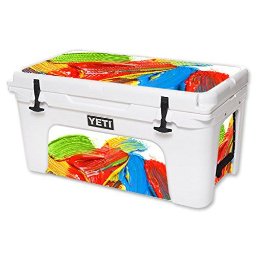 MightySkins Protective Vinyl Skin Decal for YETI Tundra 65 qt Cooler wrap cover sticker skins Paint Strokes * Visit the image link more details.(This is an Amazon affiliate link and I receive a commission for the sales)