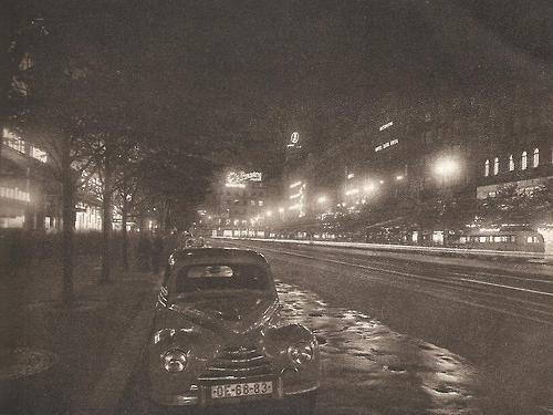 Prague with cars: Night Wenceslas Square by J.Ehm