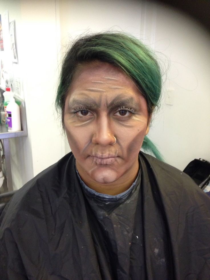Aging with makeup