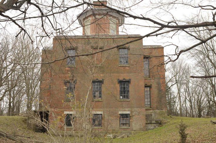 Abandoned 1857 US Marine Hospital, Galena Illinois.
