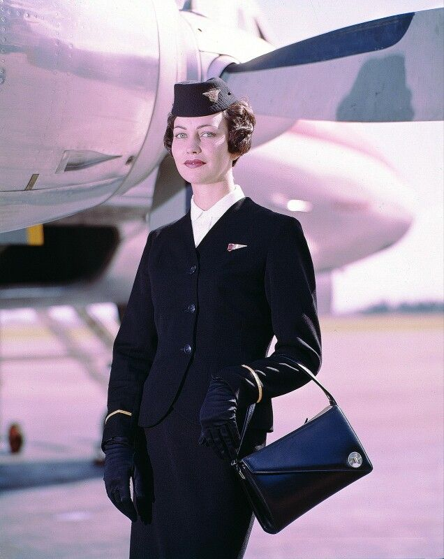 Air Hostess Uniform 1959 Winter Photo of the uniform worn by air hostess of the National Airways Corporation (NAC) between 1959 and 1975