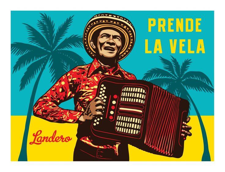 Image of Prende La Vela (Andres Landero Tribute Print)