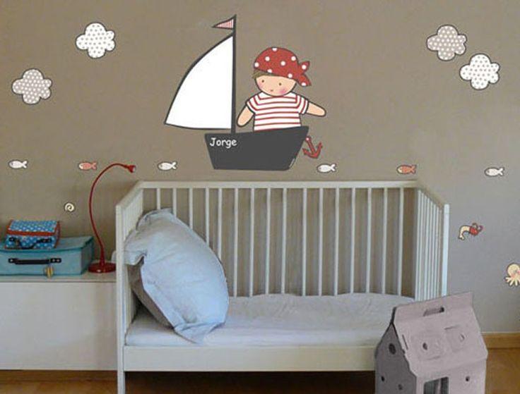 17 mejores ideas sobre cuarto de ba o de pirata en - Habitaciones infantiles marineras ...