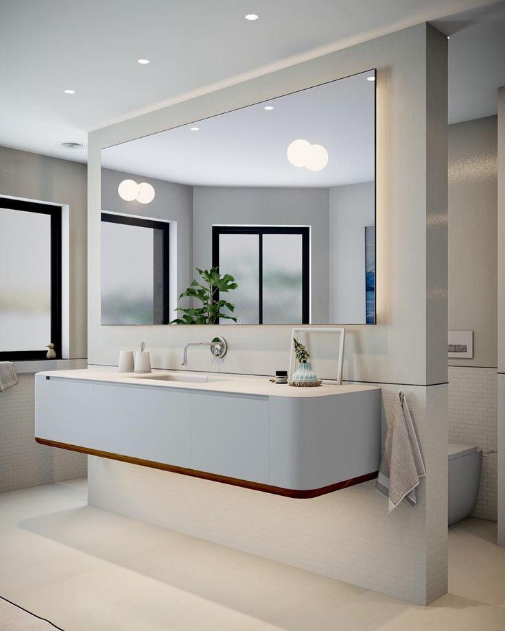 #roddpoint #bathroom loving the balance of this space? #minosabathroom #wemakebeautifulbathrooms #designlifebetterwithminosa #pytha3dcad . @gessi_official @antoniolupidesign @artedomus #mosaic #largeformat
