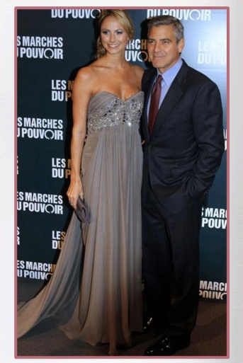 Buy it: Stacy Keibler's Taupe Silk-Crepe Strapless Gown