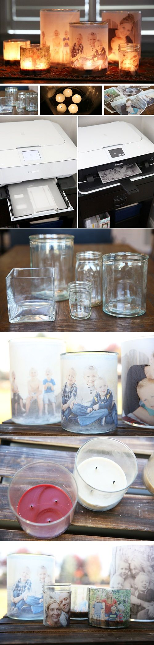 DIY Glowing Photo Luminaries #pin_it #diy #sustentabilidade @mundodascasas See more here: http://www.mundodascasas.com.br