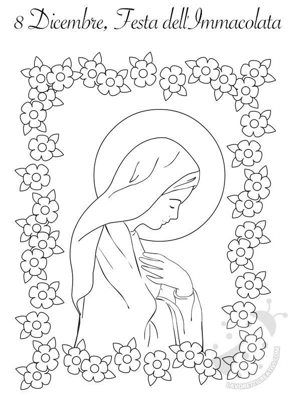 Disegno Immacolata Concezione Da Colorare Drawing Christmas