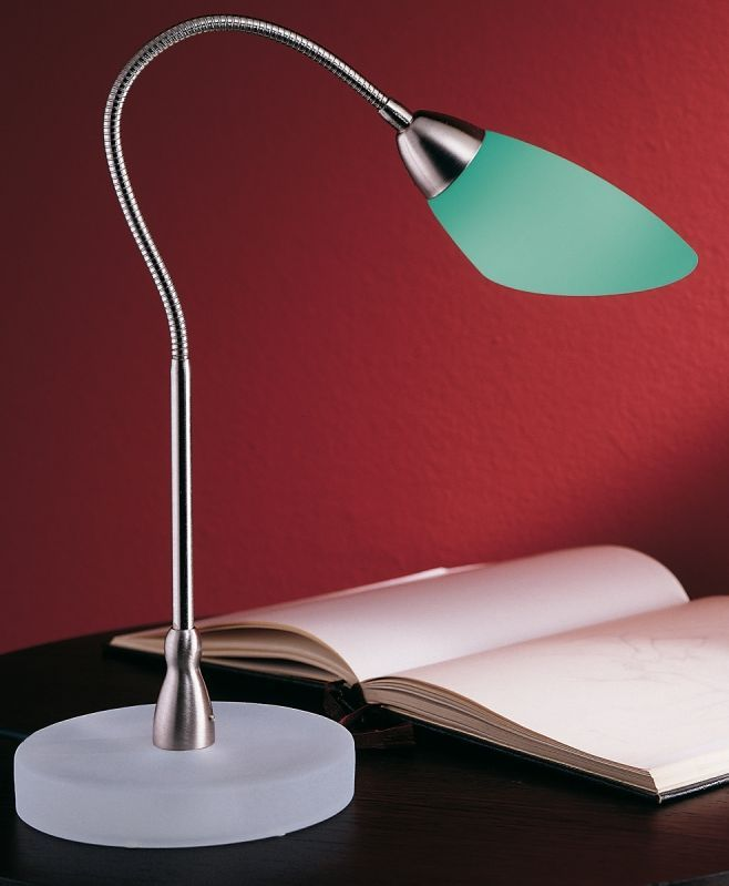 This charming desk lamp has a flexible