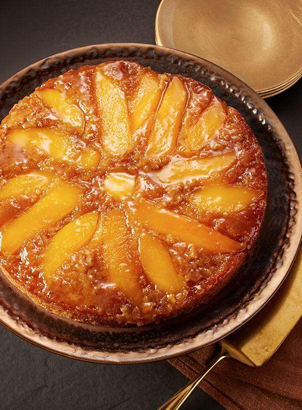 A caramelized mango topping highlights the sweet flavor of traditional upside-down cake. #EuroStyleButter